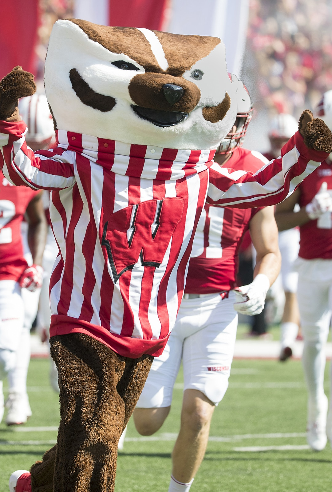 Wisconsin Badgers XXXX during an NCAA College Football game against the Florida Atlantic Owls Saturday, September 9, 2017, in Madison, Wis. The Badgers won 31-14. (Photo by David Stluka)