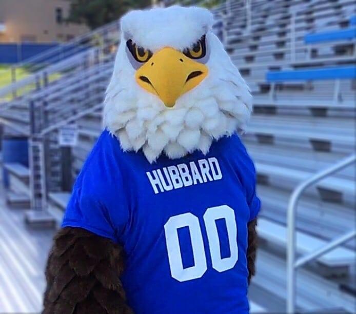 The Hubbard Eagle Mascot