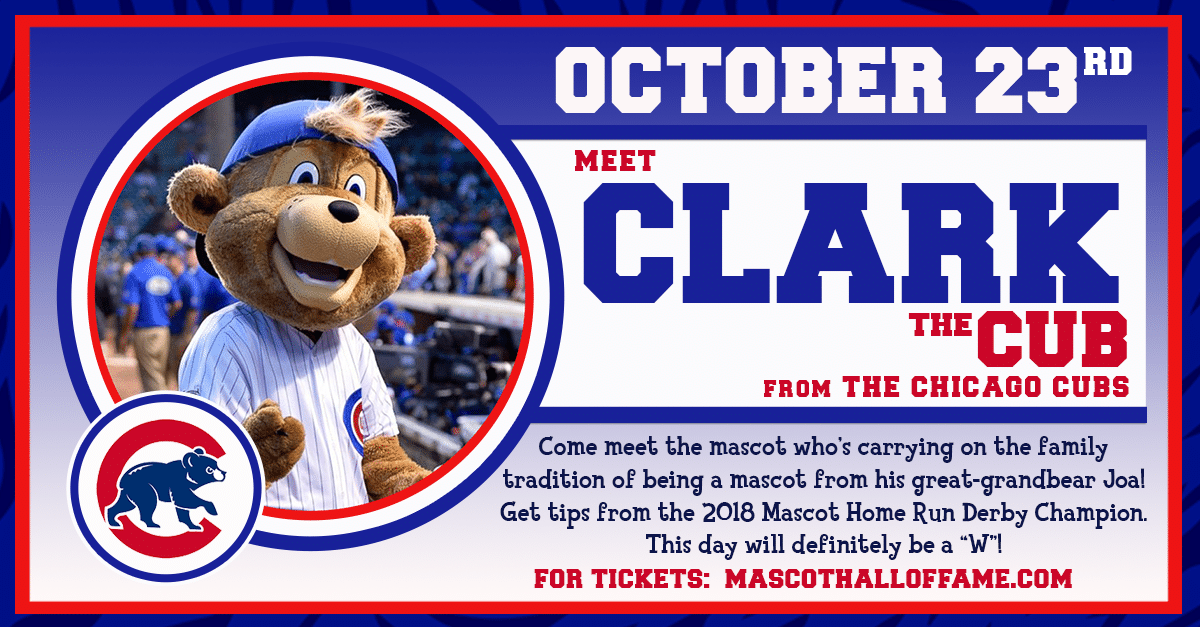 MHOF Mascot Appearance FB Event September Clark The Cub