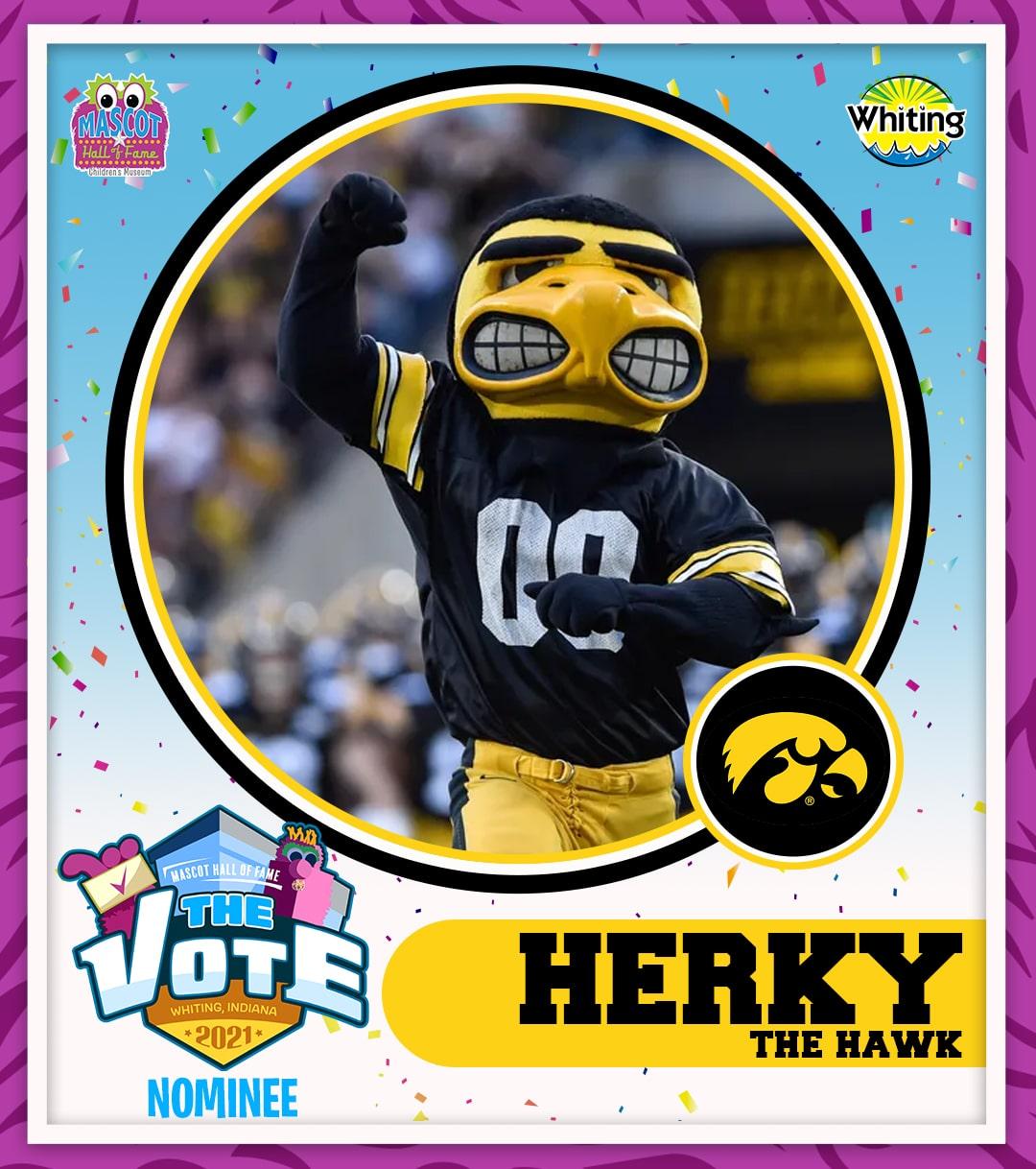 Herky the Hawk photo